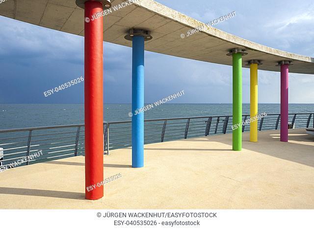 Pier, Kellenhusen, Baltic Sea, Schleswig-Holstein, Germany, Europe