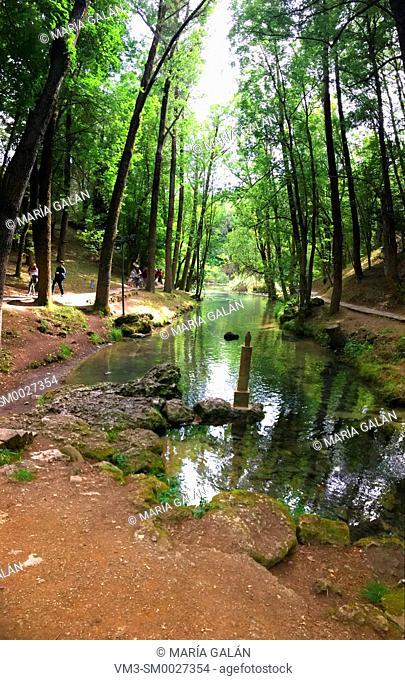 Spring of river Ebro. Fontibre, Cantabria, Spain