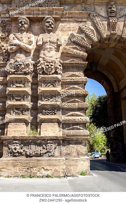 Gateway to the city called New Gate. Palermo, Sicily. Italy