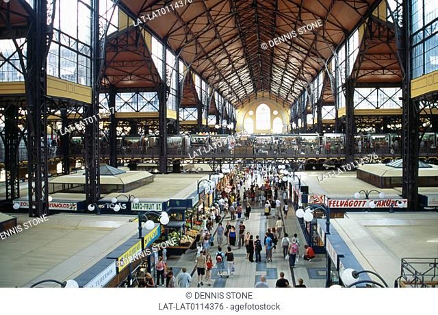The Great Market Hall in Budapest was designed by Samu Petz. The market opened in the 15th March 1897. It houses stalls selling a wide variety of goods...