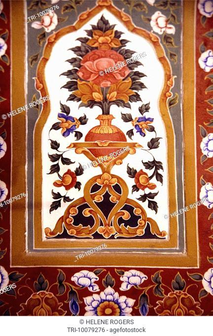Amritsar India Painting On Wall Golden Temple 1st Floor