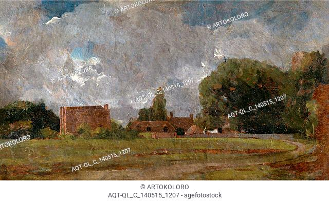 Golding Constable's House, East Bergholt: the Artist's birthplace Landscape with Village and Trees, John Constable, 1776-1837, British