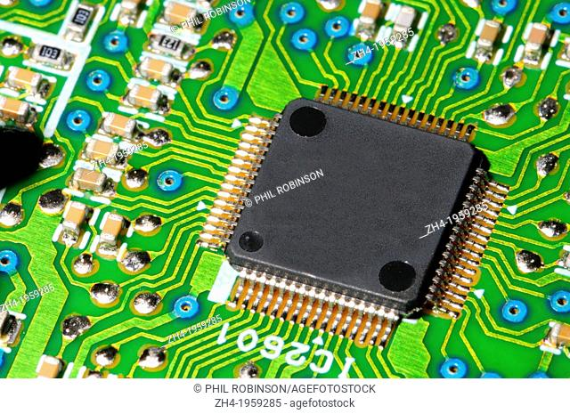 Printed Circuit Board with microprocessor from DVD player