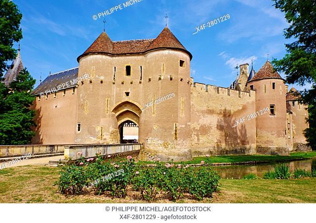 France, Cher (18), Berry, château d'Ainay-le-Vieil castle, the Jacques Coeur road