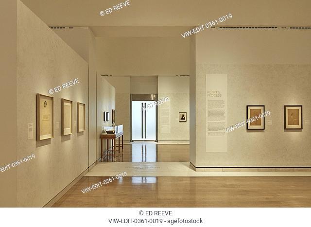 Entrance/exit of exhibition. Klimt Schiele Exhibition at the Royal Academy, London, United Kingdom. Architect: N/a, 2018