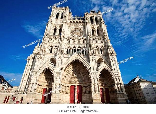 Facade of a cathedral, Notre Dame d'Amiens, Amiens, Somme, France