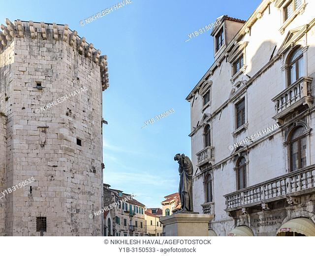 Fruit Square, Venetian Tower & Milesi Palace, Split, Croatia
