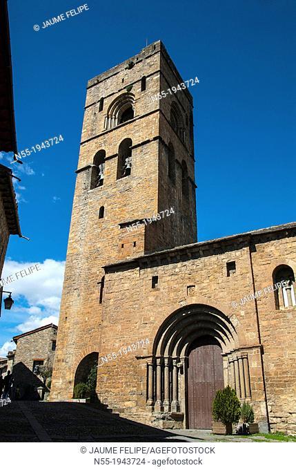 Church of Santa Maria (XIth Century), Ainsa, Huesca, Spain