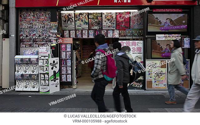 Manga shop in Akihabara. Sotokanda 4.Tokyo city, Japan, Asia