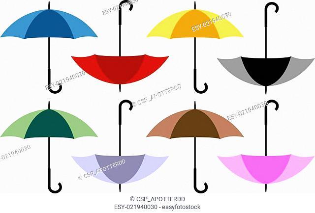 Set of 8 Umbrellas