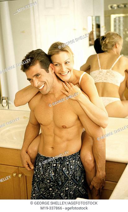 sexy couple having fun
