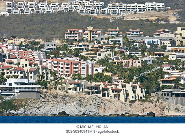 Tourism booms in Cabo San Lucas, Baja California Sur, Mexico The Los Cabos area has grown to over 180, 000 inhabitants 2007 in the last 10 years Development is...