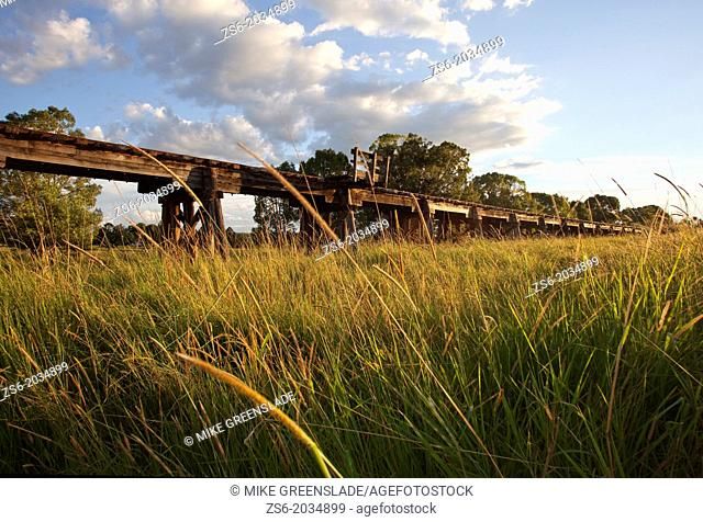 Wooden viaduct at Eltham, NSW, Australia
