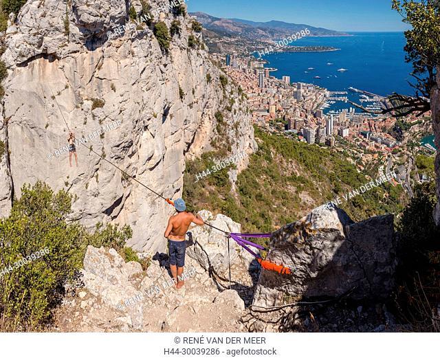 View on Monaco from Tête de Chien, La Turbie, France