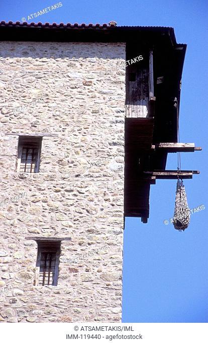 Thessaly, Meteora Moni Megalou Meteorou Grand Meteora monastery, best-known of the monasteries
