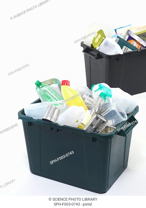 Household recycling boxes