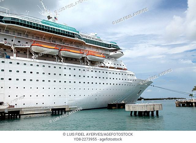 Royal Caribbean Cruise docked in the Port of Key West, Florida, USA