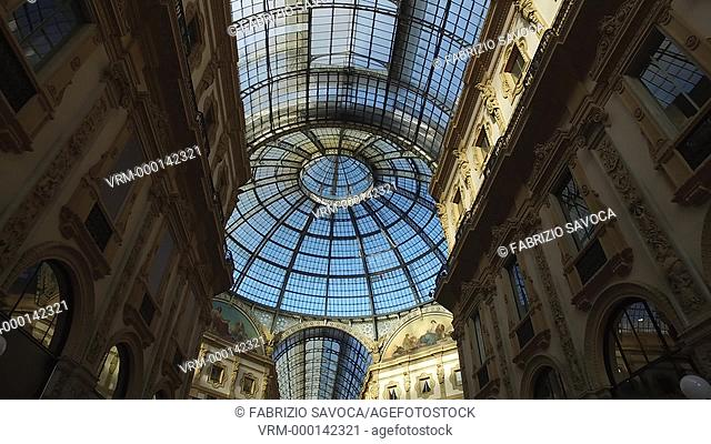 MILAN, ITALY, JANUARY 17, 2017: The Galleria Vittorio Emanuele II, one of the world's oldest shopping malls