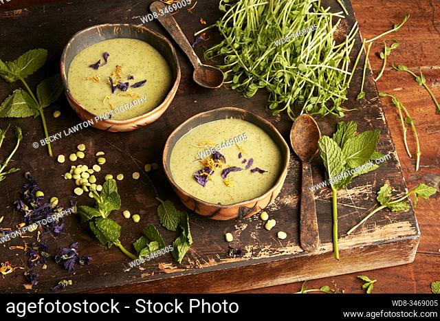 Crema de guisantes y menta / pea and mint cream