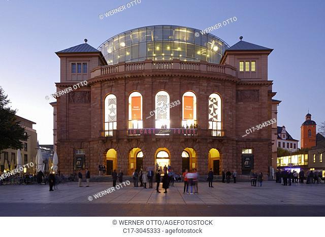 Mainz, D-Mainz, Rhine, Rhine-Main district, Rhineland, Rhineland-Palatinate, Staatstheater Mainz, Mainz State Theatre, playhouse, music theatre, dance theatre