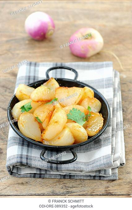Turnips with moroccan spices