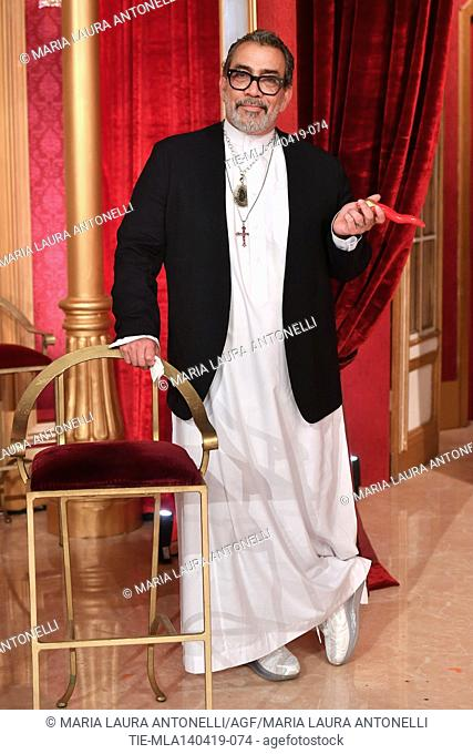Guillermo Mariotto at the talent show ' Ballando con le stelle ' (Dancing with the stars) Rome, ITALY-14-04-2019