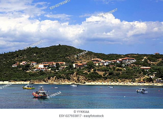 Ouranoupoli on the coast of Athos in Greece