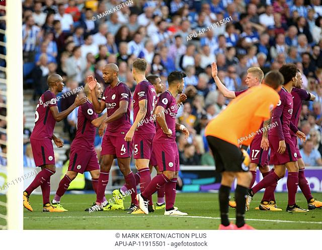 2017 EPL Premier League Brighton v Manchester City Aug 12th. 12th August 2017, Amex Stadium, Brighton, Sussex, England; EPL Premier League Football