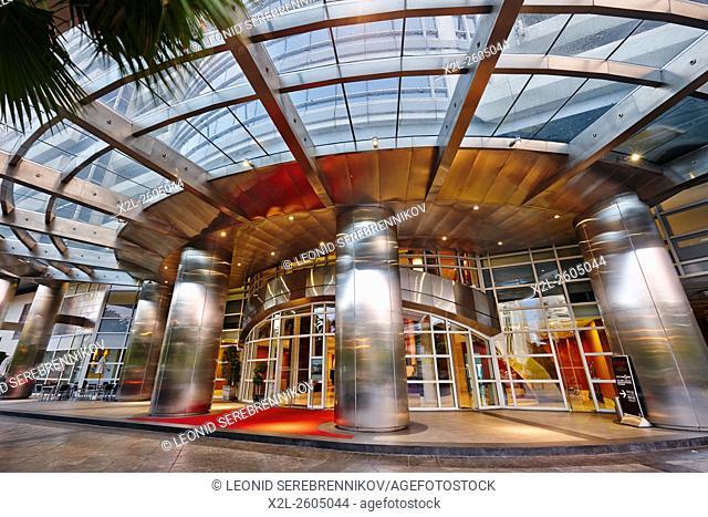 Entrance to the Centara Grand Hotel at CentralWorld Complex. Bangkok, Thailand