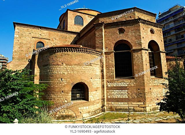 The 8th century Greek cross domed Basilica of The Hagia Sophia, a Sfa, orHoly Wisdom  A Palaeochristian and Byzantine Monuments of Thessaloniki