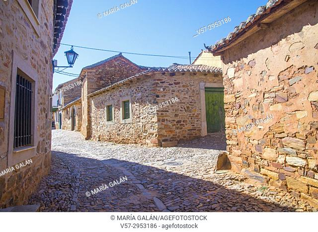 Street. Castrillo de los Polvazares, Leon province, Castilla Leon, Spain