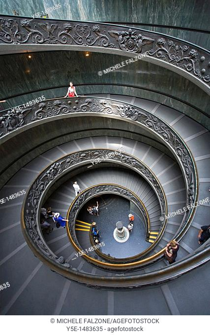 Main staircase, Musei Vaticani, Rome, Italy
