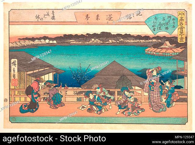 Ikeno Mata (Horai-ya). Artist: Utagawa Hiroshige (Japanese, Tokyo (Edo) 1797-1858 Tokyo (Edo)); Period: Edo period (1615-1868); Date: ca