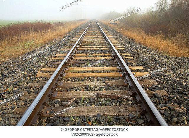 Railroad track, Ankeny National Wildlife Refuge, Oregon