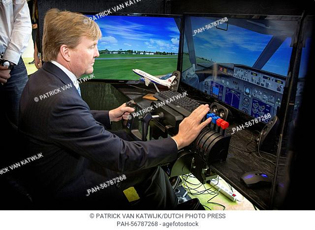 Dutch Crown Prince Willem-Alexander visiting Samso Island, Denmark, 18 March 2015. The royal couples visit Energy Academy