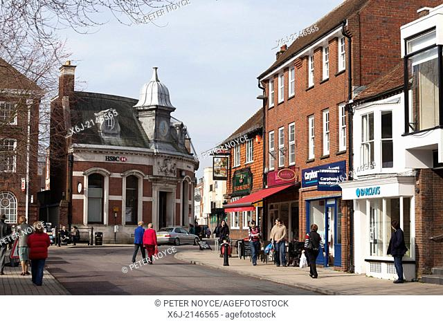 Petersfield High Street in the town centre