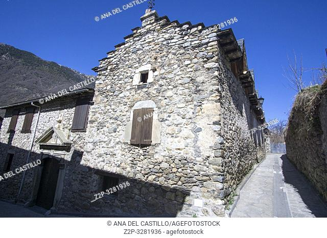 Anciles is a medieval village in Benasque Huesca Aragon Spain