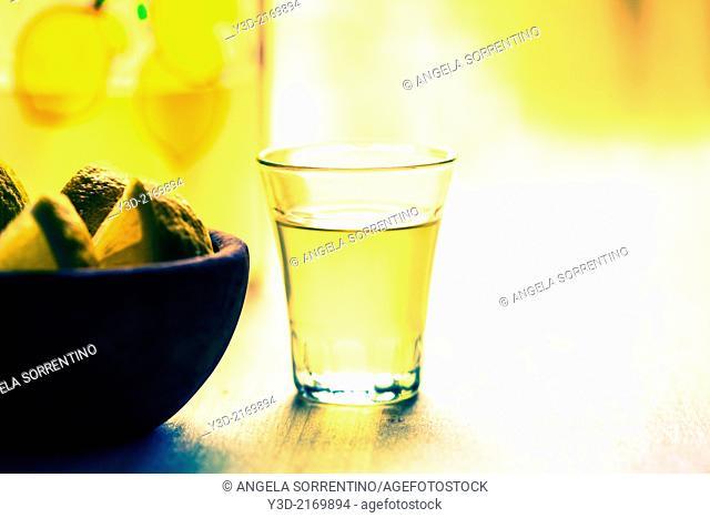 Limoncello Italian drink