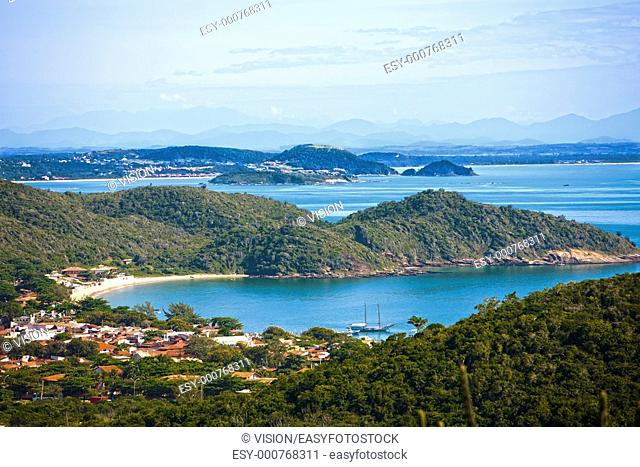 praia joao fernandes in the beautiful typical brazilian city of buzios near rio de janeiro in brazil