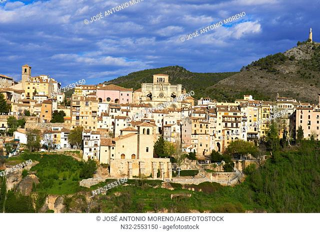 Cuenca, Cathedral, Jucar river gorge, UNESCO World Heritage Site. Castilla-La Mancha. Spain