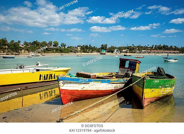 Boats near Vilanculos port, Bazaruto Archipelago; Mozambique