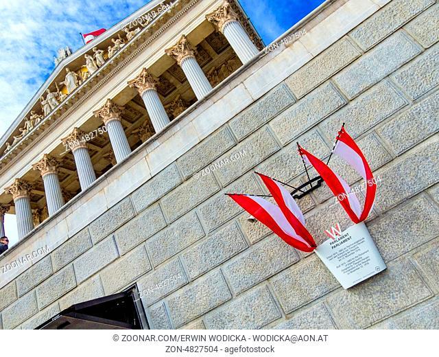 Das österreichische Parlament in Wien. Sitz der Regierung