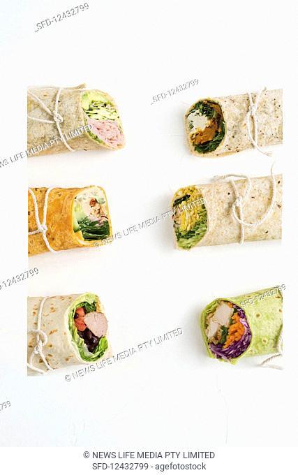 Six wrap variations