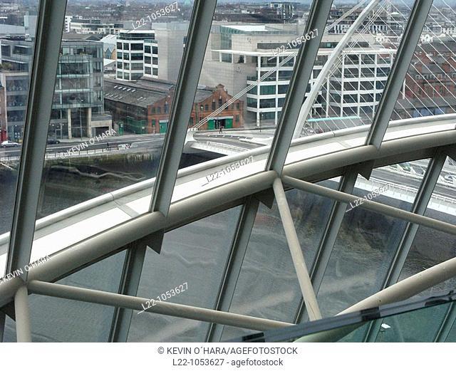 Overview from Dublin Convention center, Dublin, Leinster, Ireland