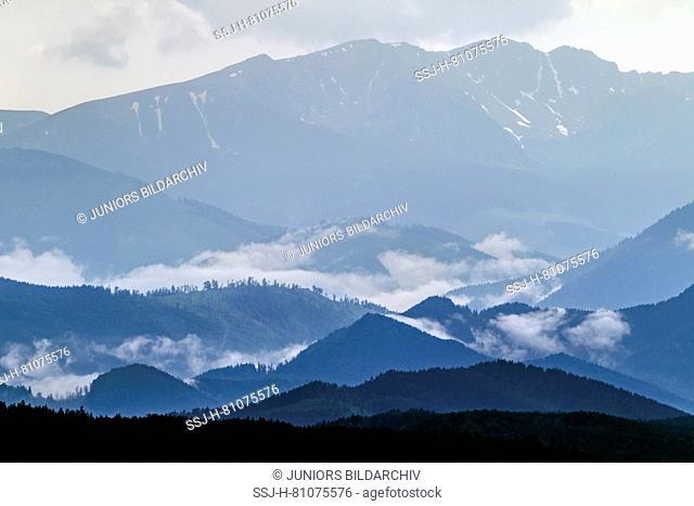 Low Tatras. Landcape after a rain shower. Inner Western Carpathians, Slovakia