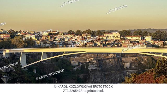 Infante Bridge at sunset, Porto, Portugal