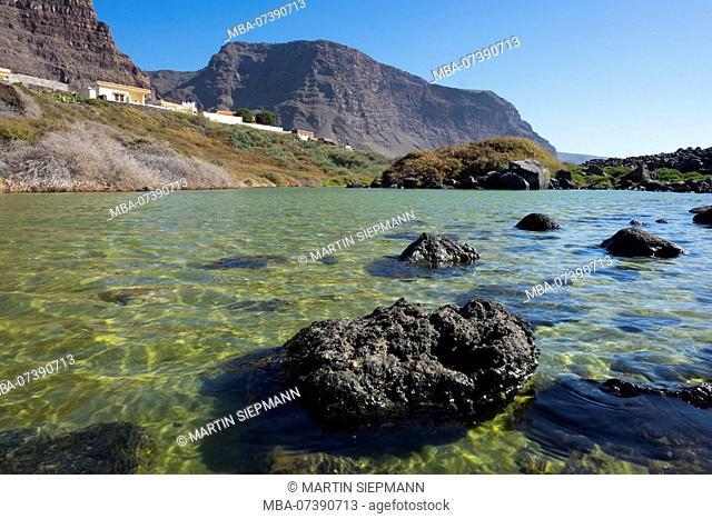 Charco del Cieno, La Playa, Valle Gran Rey, La Gomera, Canary Islands, Canaries, Spain
