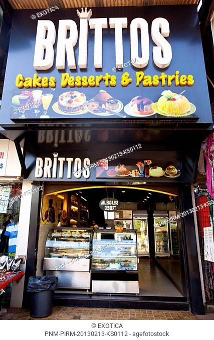 Facade of a shop, Britto's, Calangute, North Goa, Goa, India