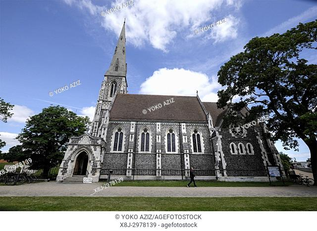 Denmark, Copenhagen, Church St Alban