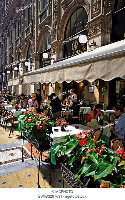 restaurant in the Galleria Vittorio Emanuele II, Italy, Milan